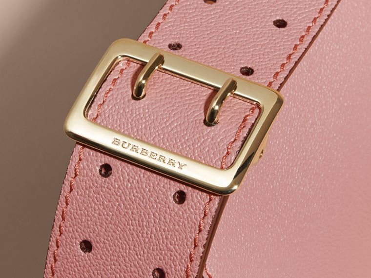 Buckle Detail Leather Crossbody Bag Dusty Pink - cell image 1