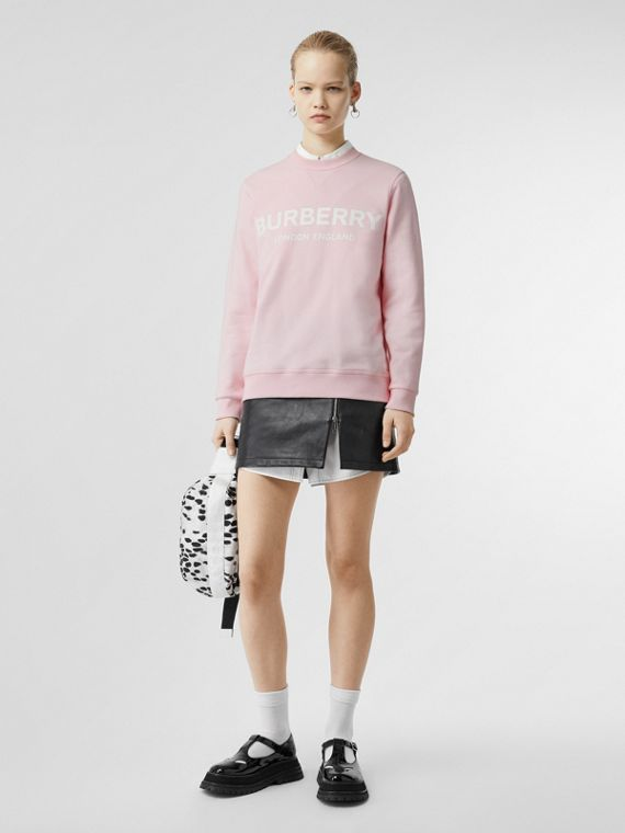 Sweat-shirt en coton avec logo (Rose Albâtre)