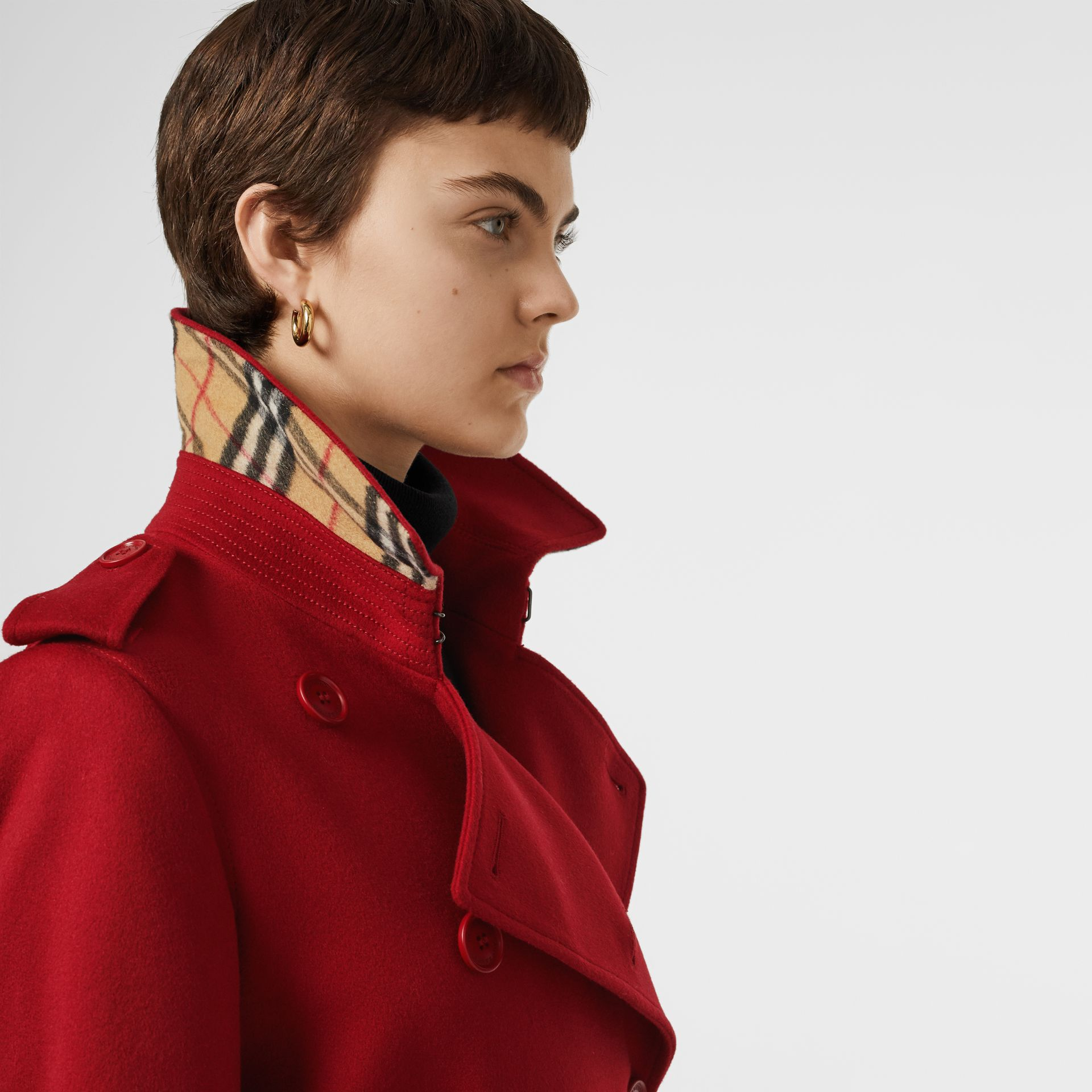 Cashmere Trench Coat in Red - Women | Burberry United Kingdom - gallery image 1