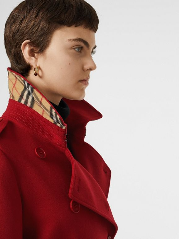 Trench coat in cashmere (Rosso) - Donna | Burberry - cell image 1