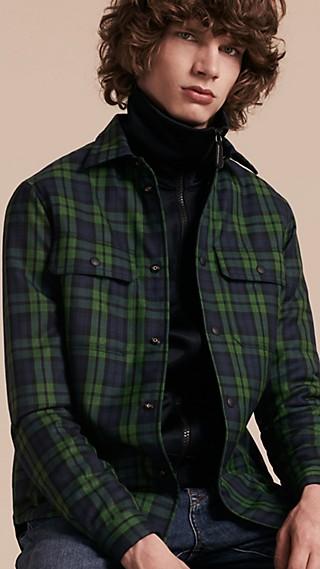 Tartan Wool Wadded Shirt