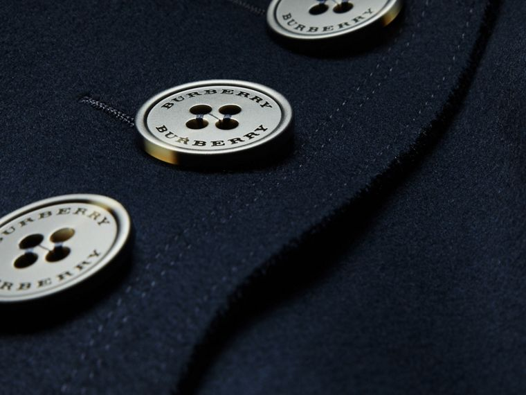 Navy Cappotto oversize dal taglio lungo in lana - cell image 1