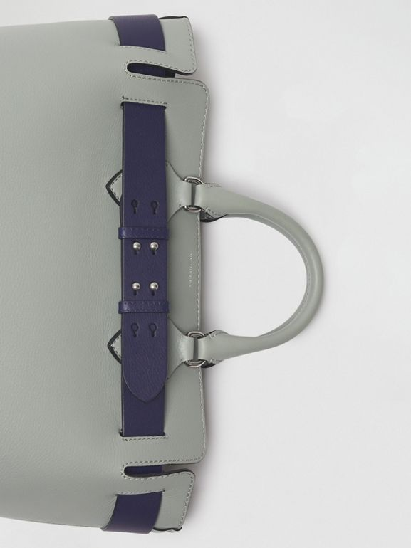 The Medium Leather Belt Bag in Grey Blue - Women | Burberry United Kingdom - cell image 1