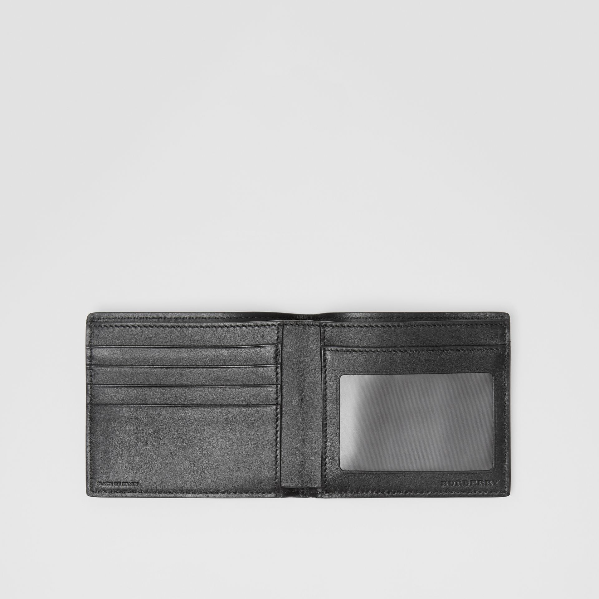 Vintage Check Leather ID Wallet in Black - Men | Burberry Australia - gallery image 2