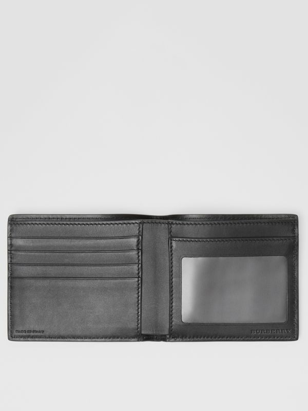 Vintage Check Leather ID Wallet in Black - Men | Burberry Australia - cell image 2
