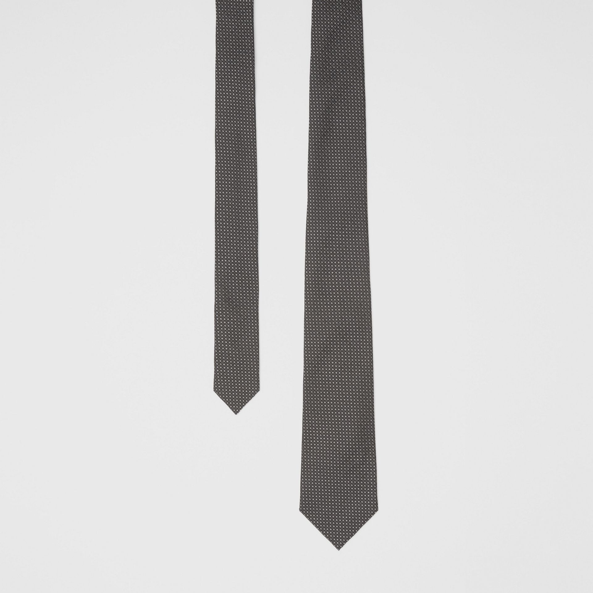 Classic Cut Micro Dot Silk Jacquard Tie in Black - Men | Burberry United Kingdom - gallery image 0