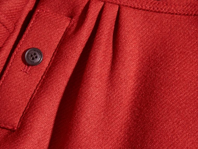 Tailored Wool Cashmere Blend Coat in Damson Red - cell image 1