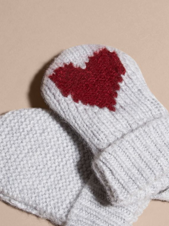 Heart Intarsia Cashmere Mittens - cell image 2
