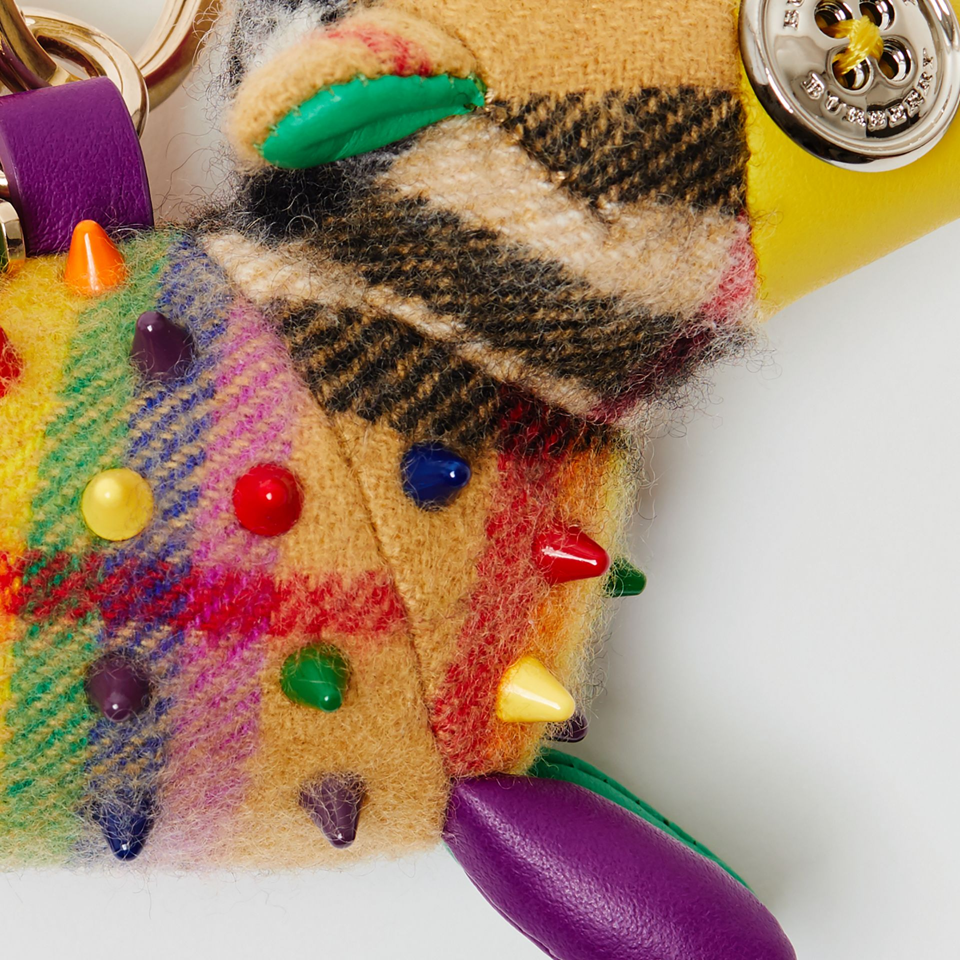 Wendy The Sheep Rainbow Vintage Check Charm in Multicolour/antique Yellow | Burberry Australia - gallery image 1
