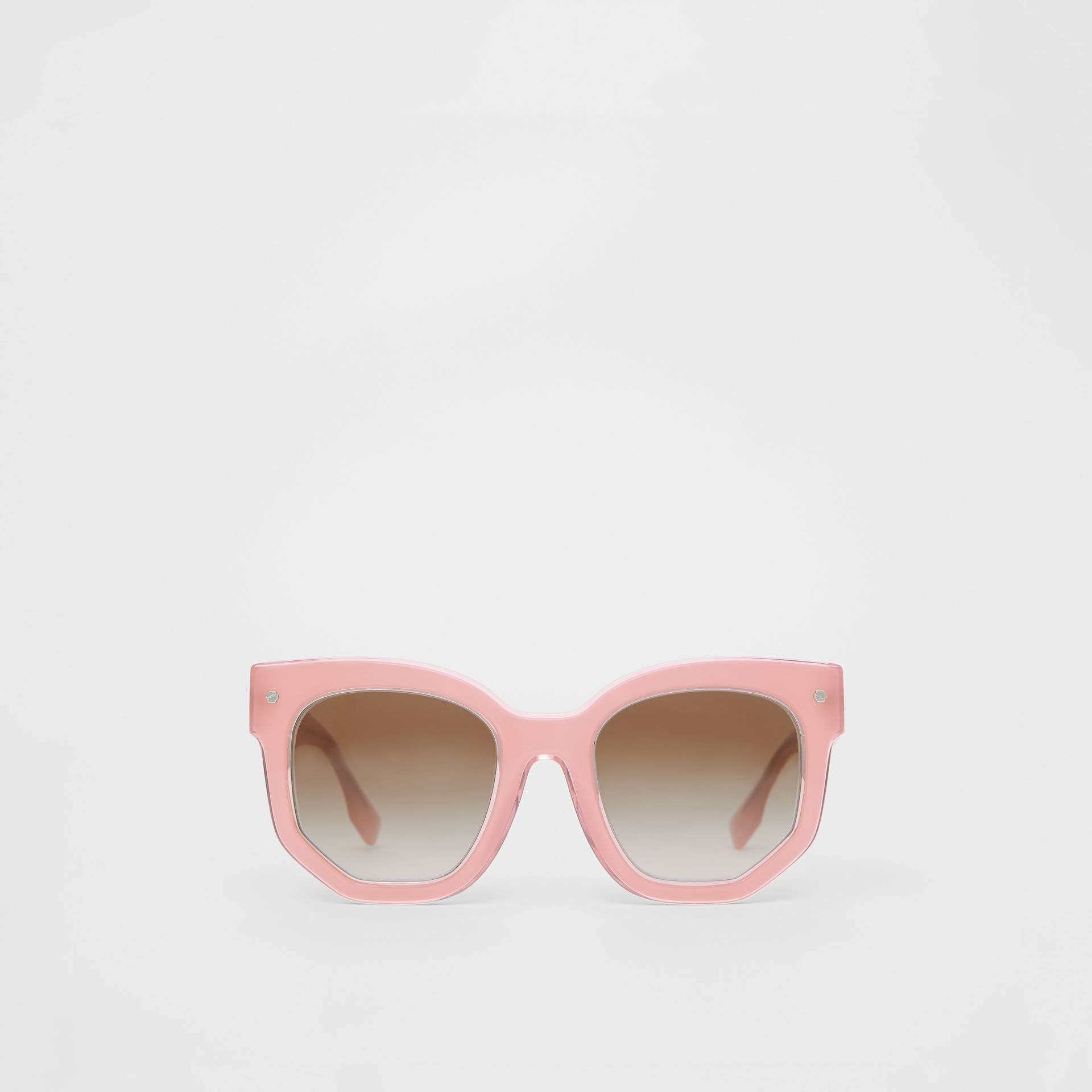 Geometric Frame Sunglasses in Pink - Women | Burberry Australia - gallery image 0