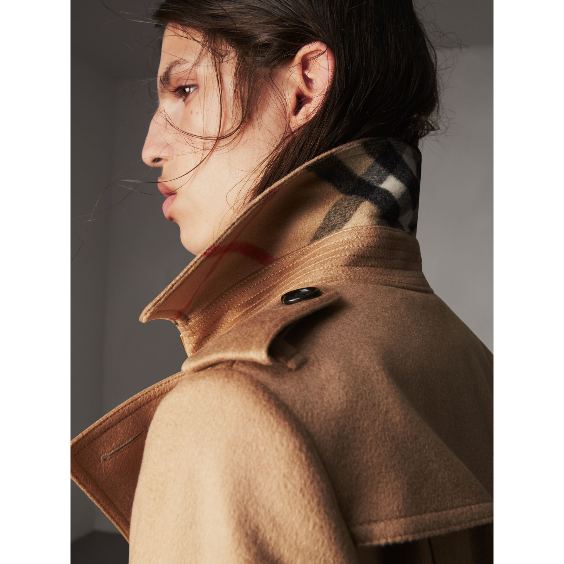 Sandringham Fit Cashmere Trench Coat in Camel - Women | Burberry United Kingdom - gallery image 1