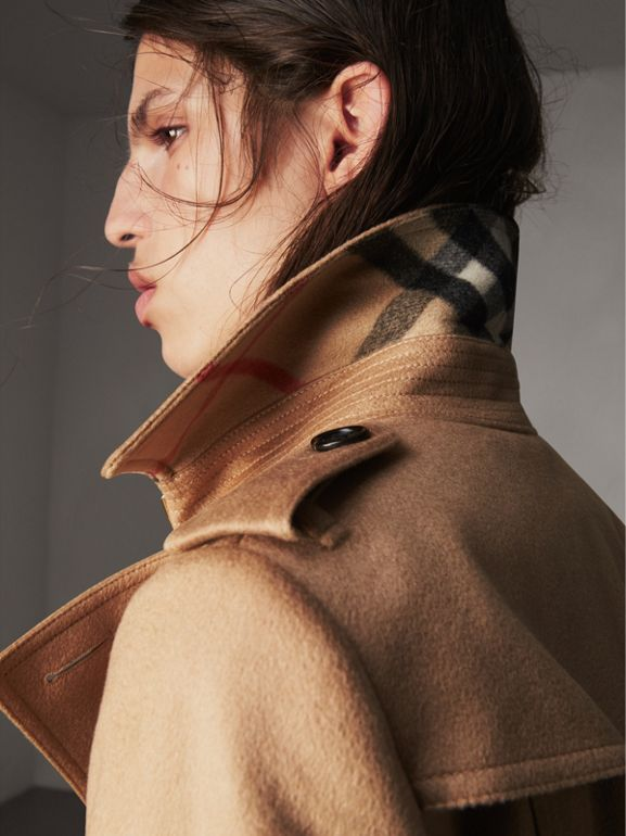 Sandringham Fit Cashmere Trench Coat in Camel - Women | Burberry Singapore - cell image 1