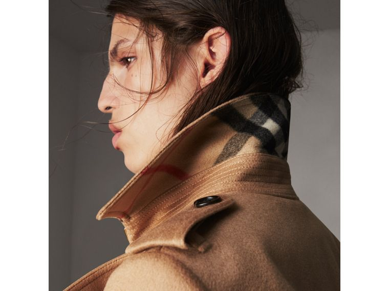 Sandringham Fit Cashmere Trench Coat in Camel - Women | Burberry - cell image 1