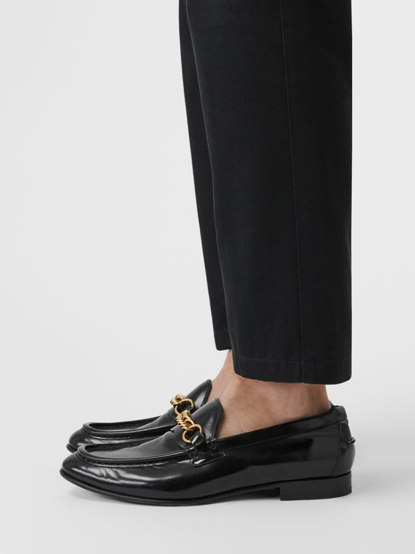 The Leather Link Loafer in Black - Men | Burberry - cell image 2
