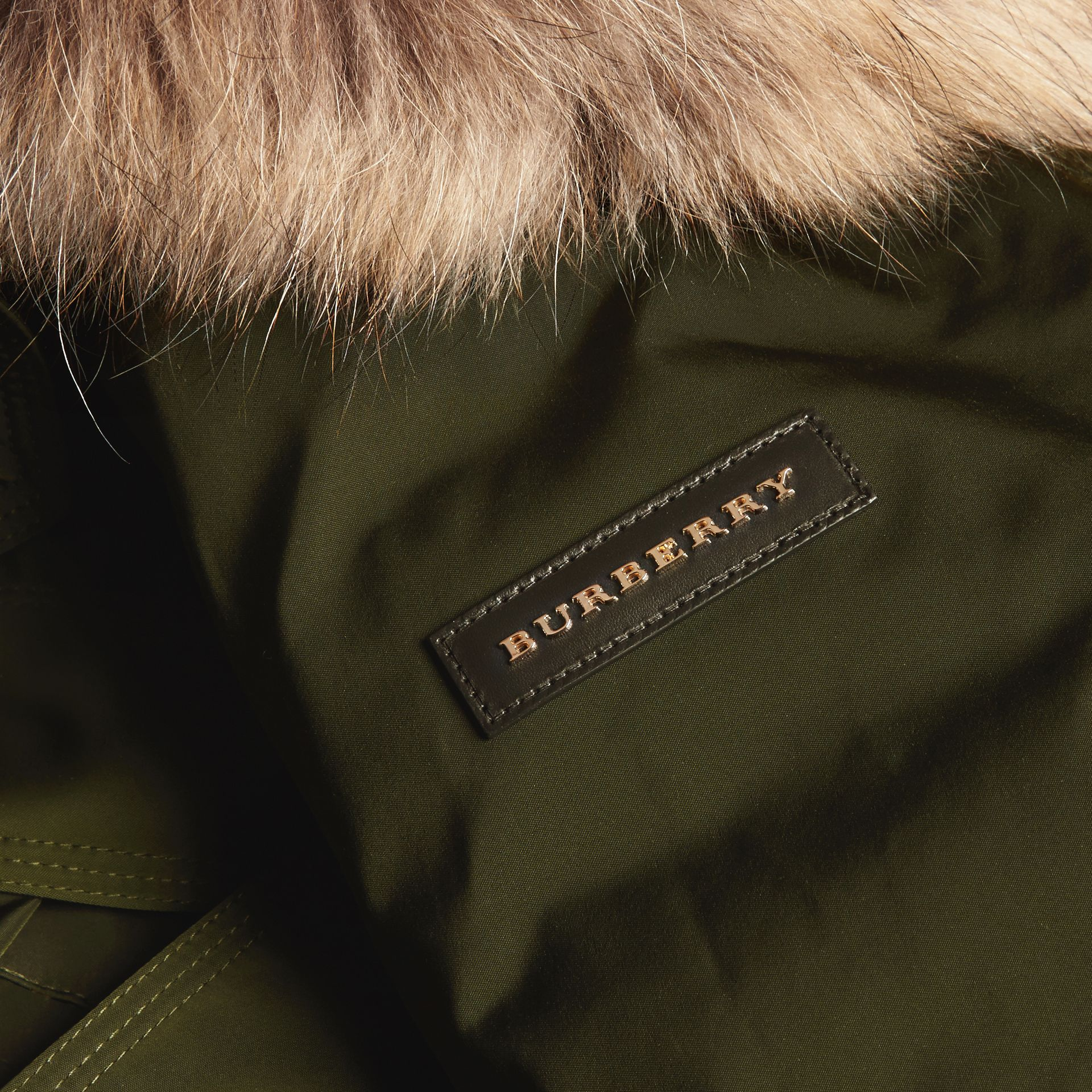 Dark cedar green Down-filled Parka Coat with Detachable Fur Trim Dark Cedar Green - gallery image 2