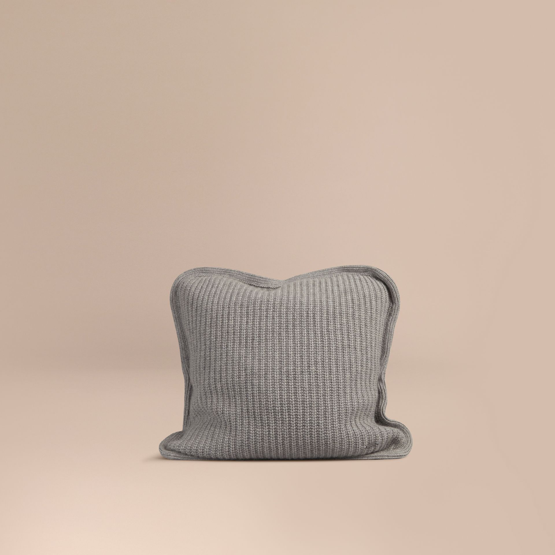Light grey melange Knitted Cashmere Cushion Cover Light Grey Melange - gallery image 1
