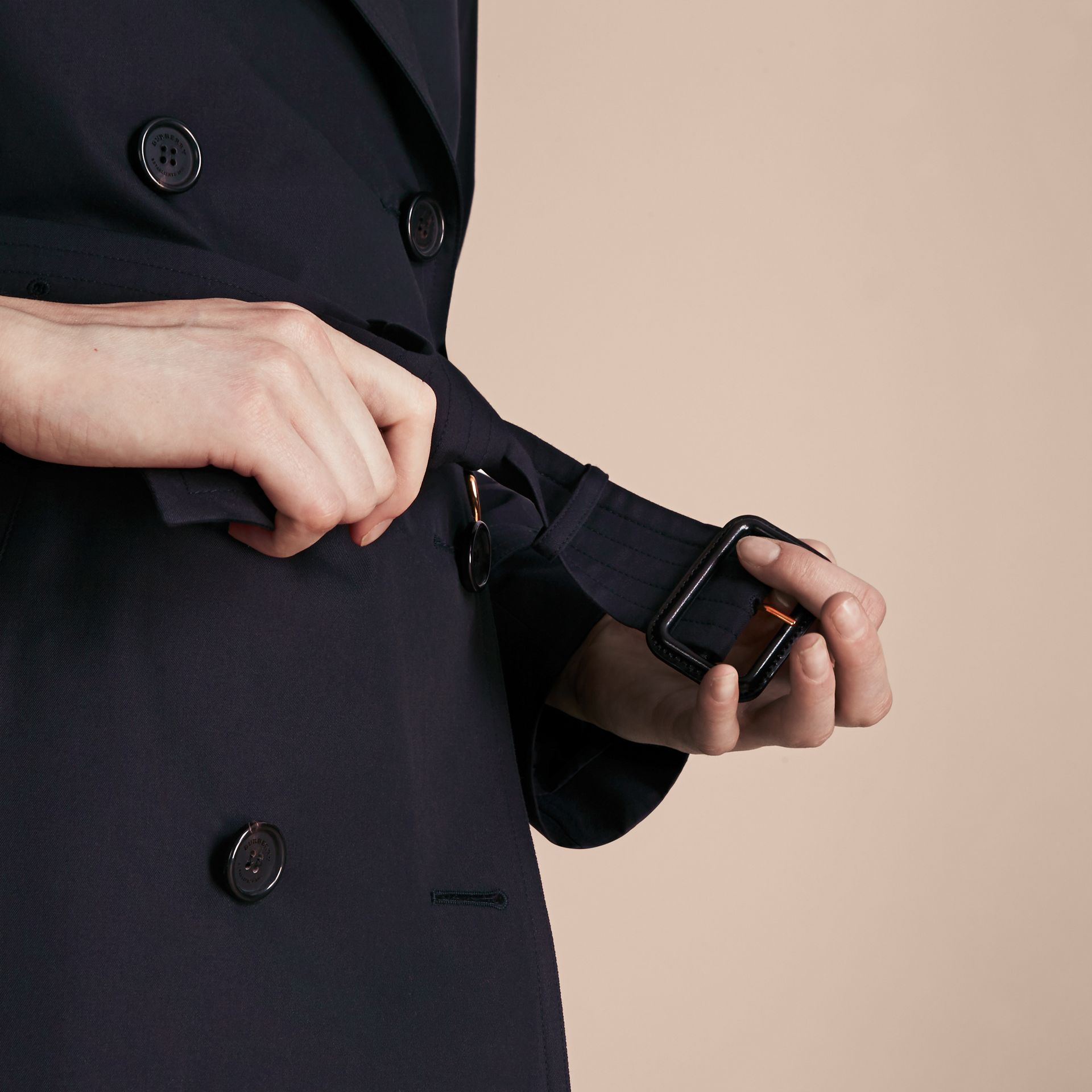 Navy The Westminster – Mid-Length Heritage Trench Coat Navy - gallery image 5