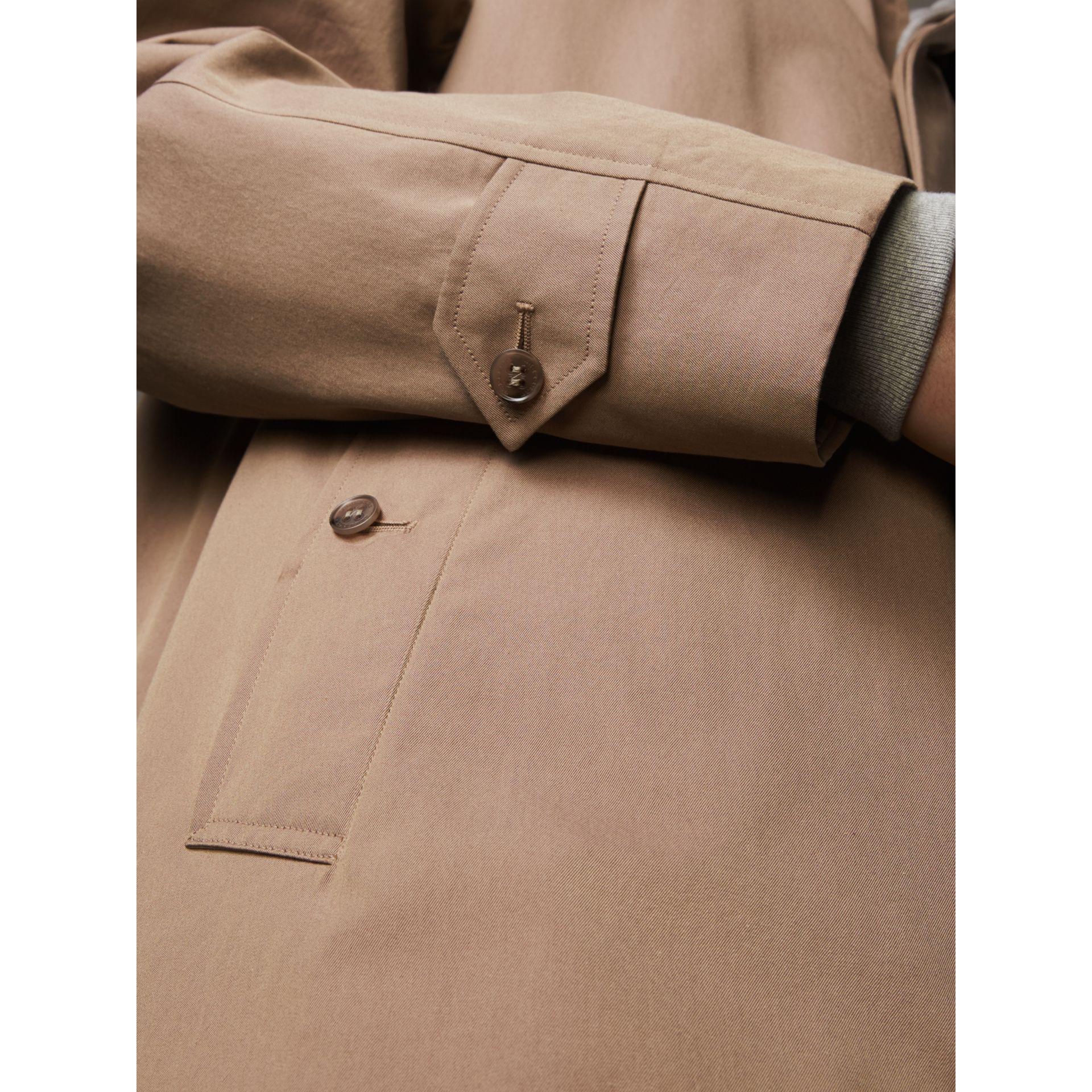 The Brighton Car Coat in Taupe Brown - Men | Burberry - gallery image 4