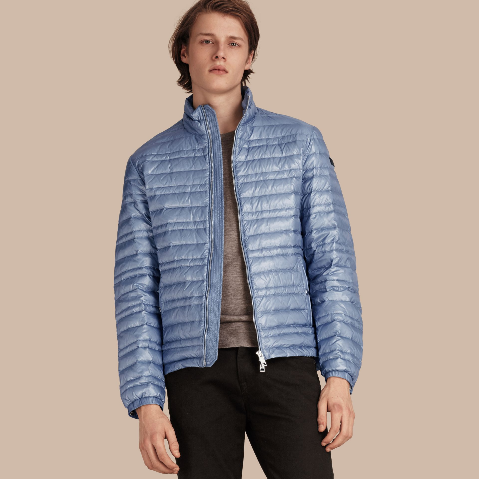Pale blue Lightweight Down-filled Jacket Pale Blue - gallery image 1