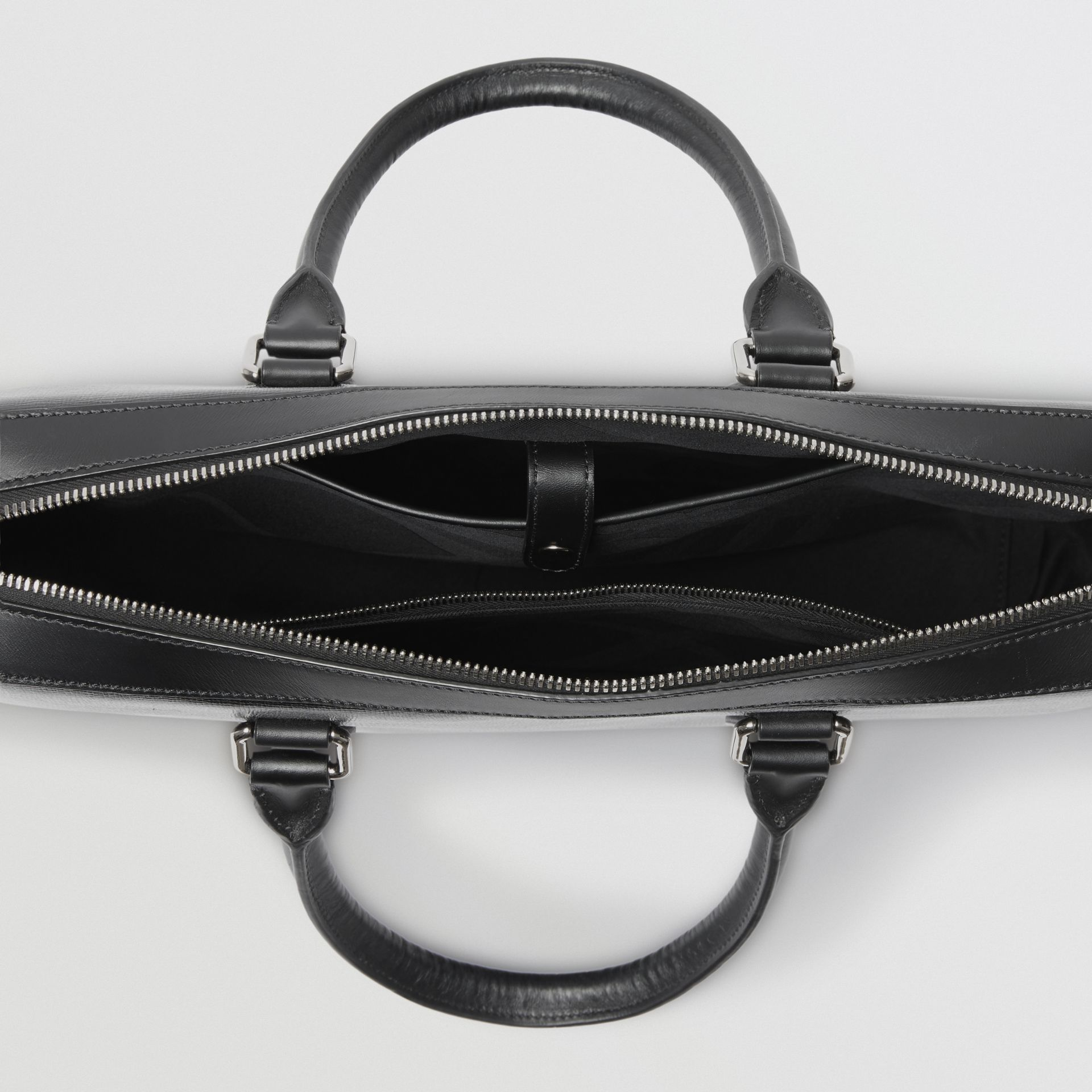London Leather Briefcase in Black - Men | Burberry United States - gallery image 3