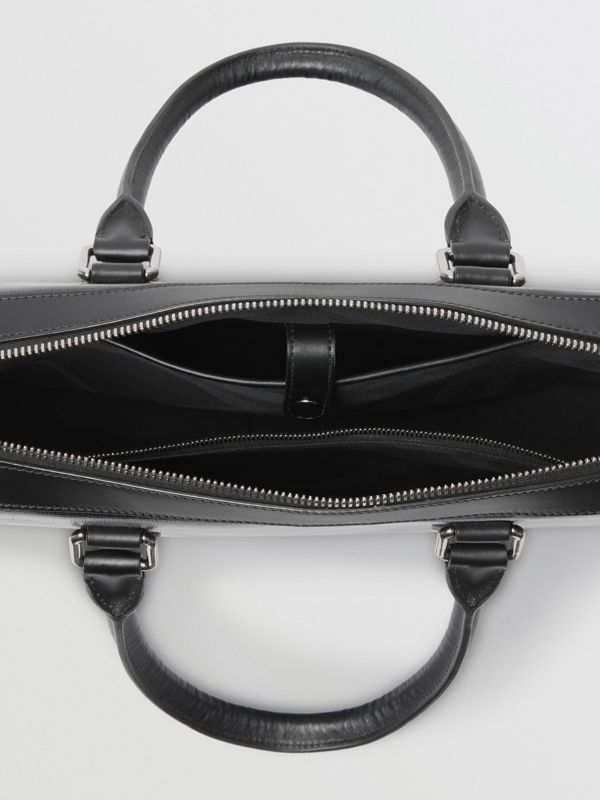 London Leather Briefcase in Black - Men | Burberry United States - cell image 3