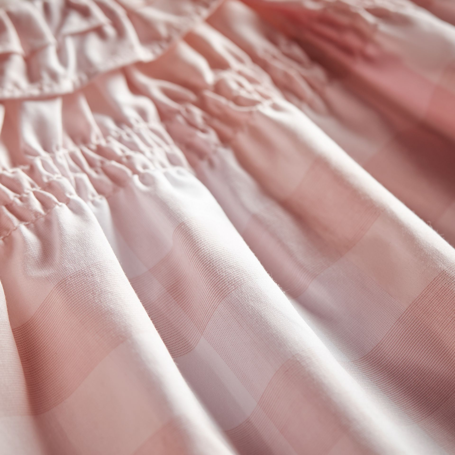 Ruffle Detail Check Cotton Dress and Bloomers in Ice Pink | Burberry United Kingdom - gallery image 2