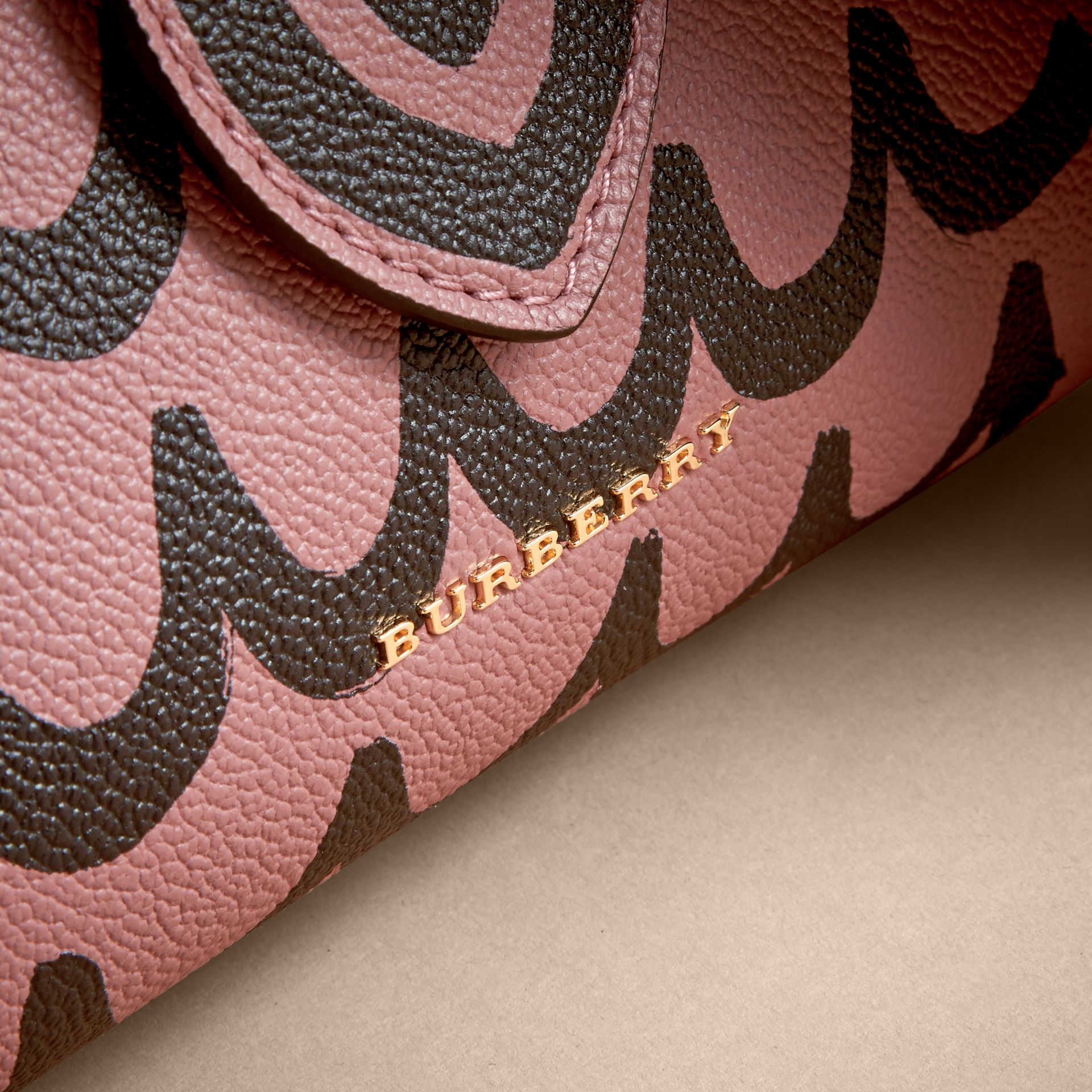The Small Buckle Tote in Trompe L'oeil Print Leather - Women | Burberry - gallery image 2
