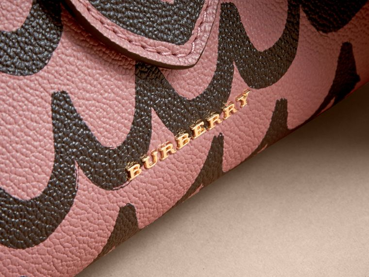 The Small Buckle Tote in Trompe L'oeil Print Leather - cell image 1