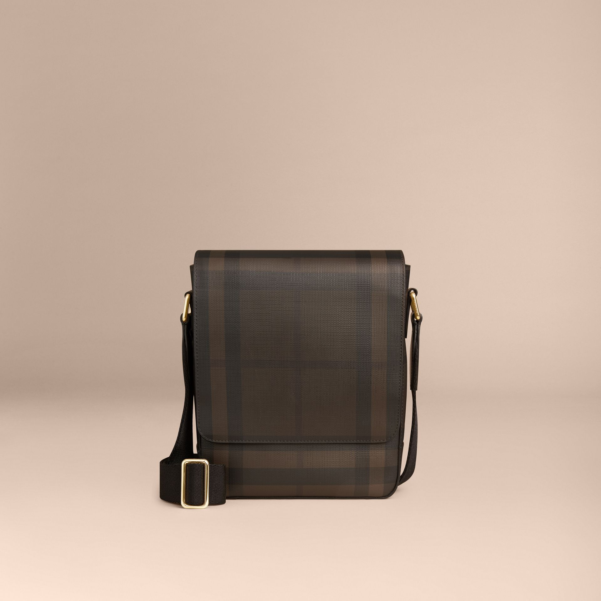 London Check Crossbody Bag in Chocolate/black - gallery image 7