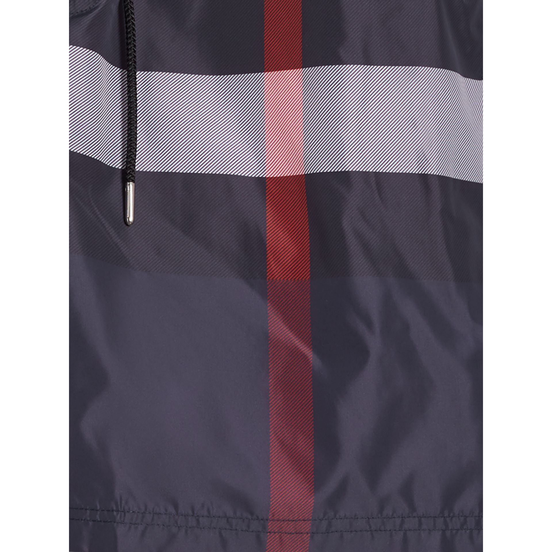 Check Drawcord Swim Shorts in Navy - Men | Burberry United States - gallery image 2