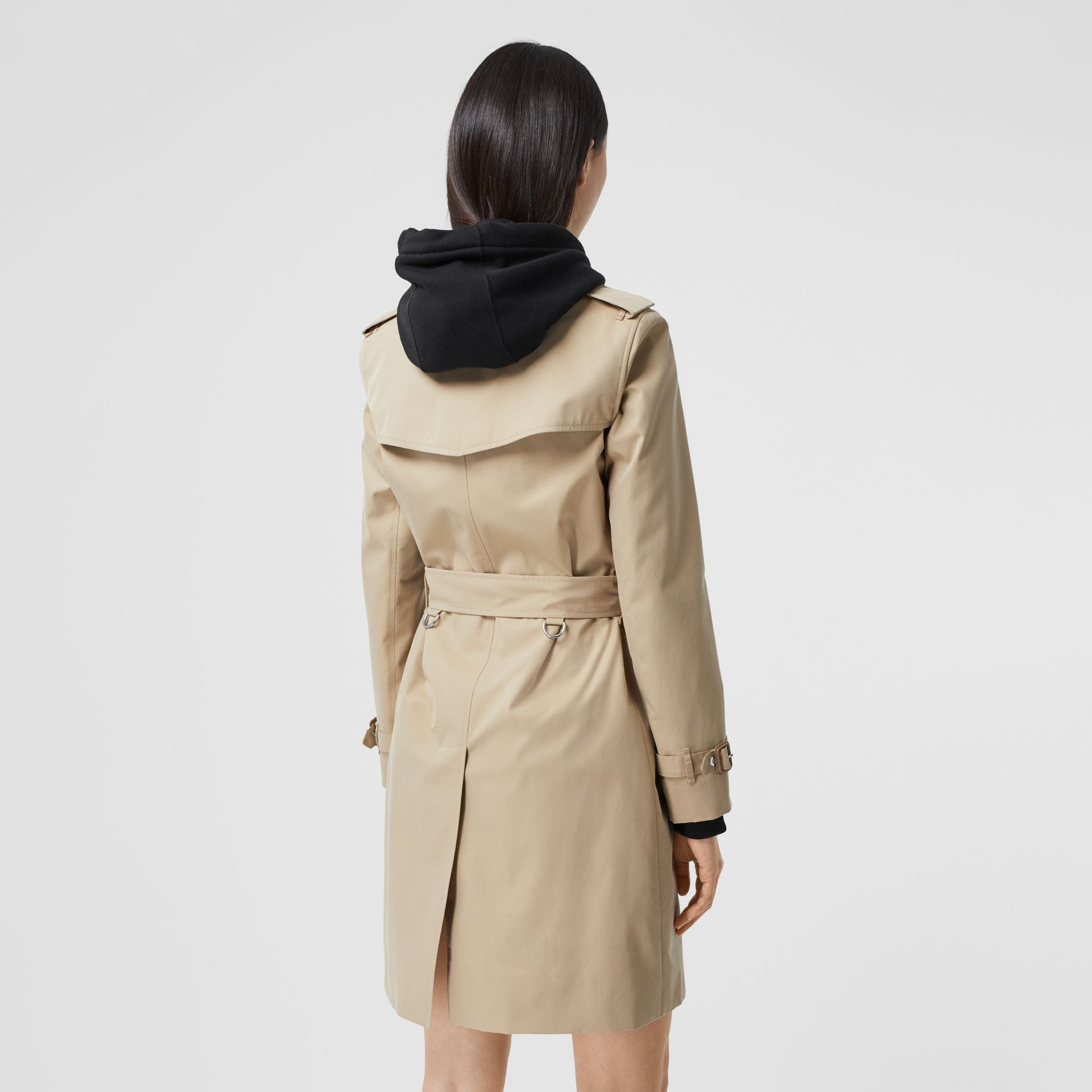 Watercolour Print-lined Cotton Gabardine Trench Coat in Honey - Women | Burberry - gallery image 2