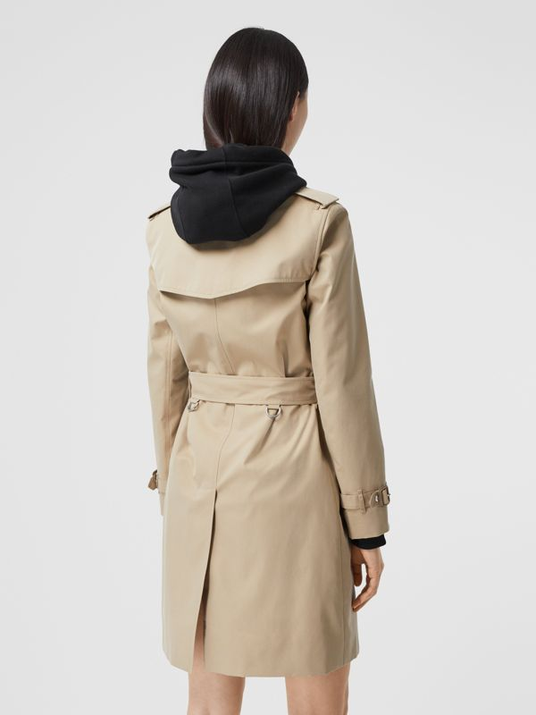 Watercolour Print-lined Cotton Gabardine Trench Coat in Honey - Women | Burberry - cell image 2