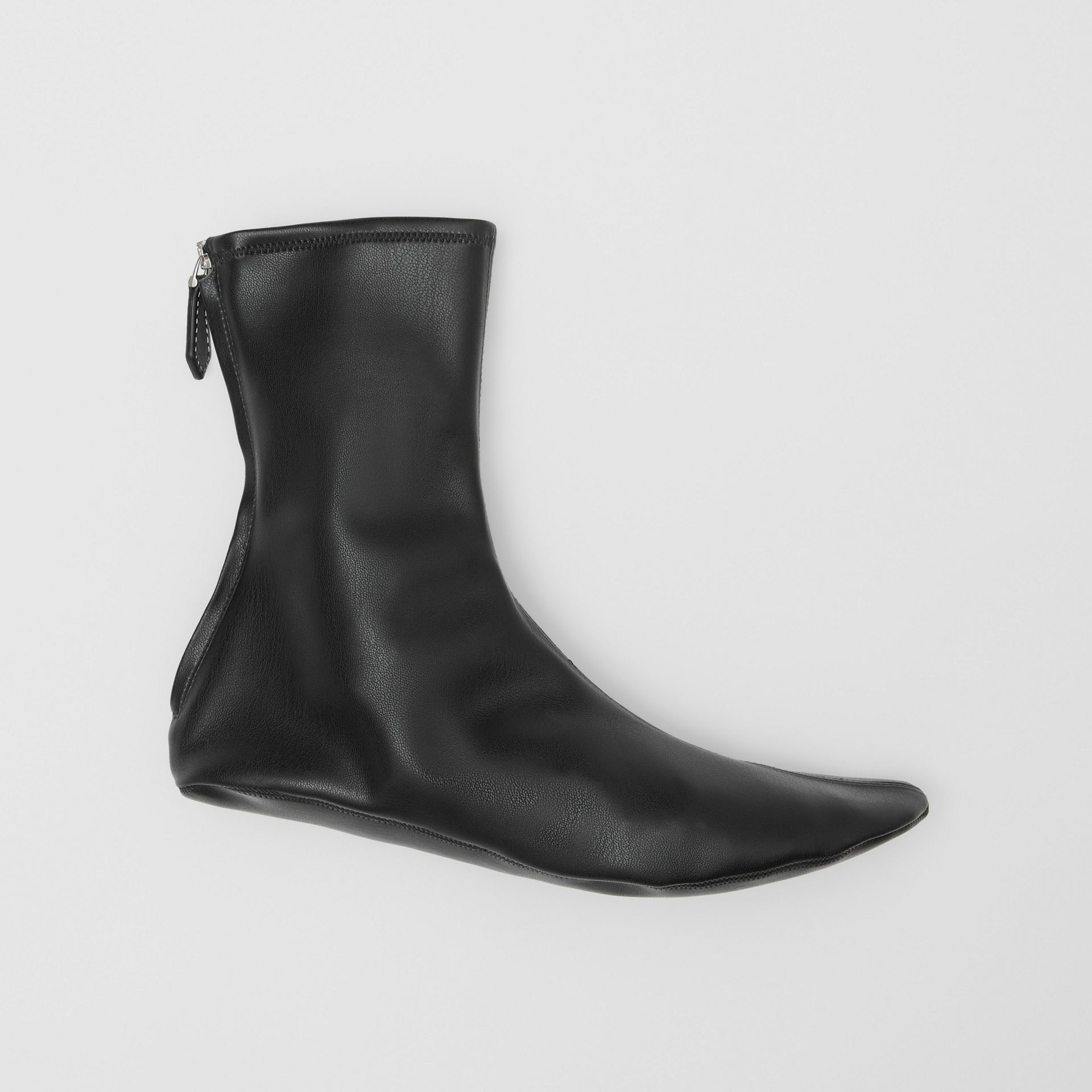 Faux Leather Ankle Socks in Black - Women | Burberry - gallery image 0