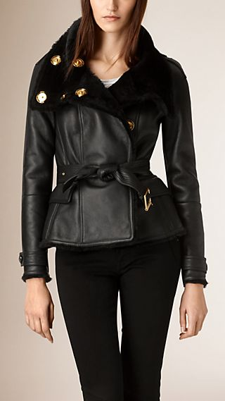Shearling Wrap Jacket
