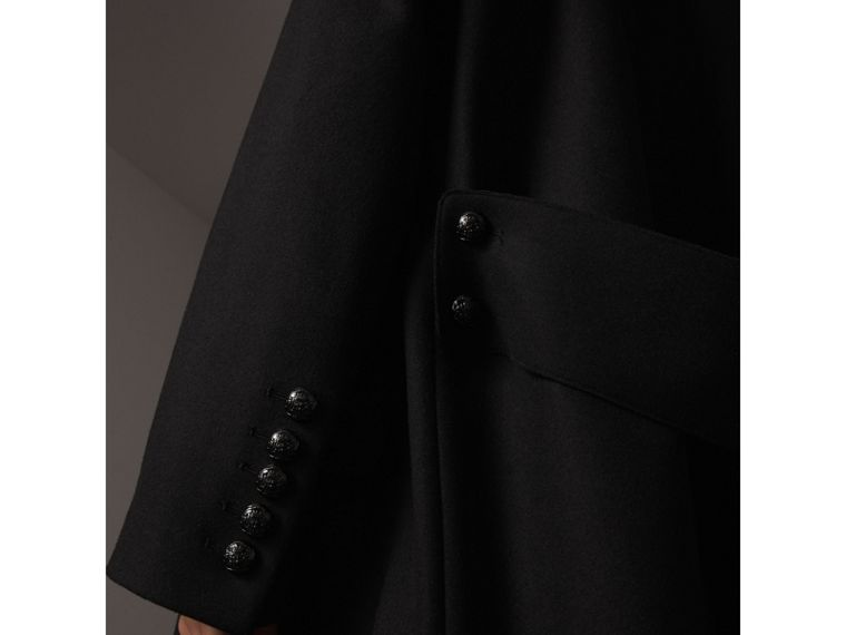 Wool Blend Pea Coat in Black - Women | Burberry - cell image 1