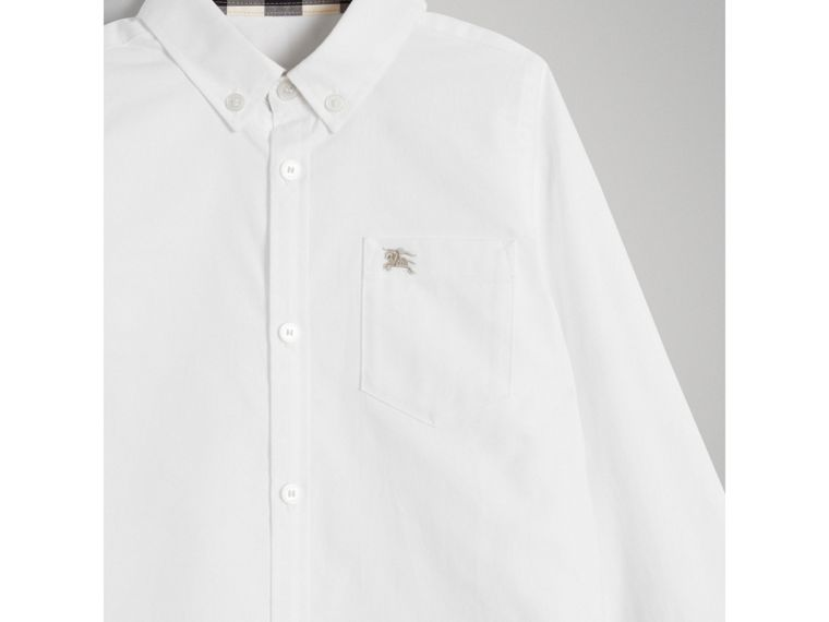 Classic Oxford Shirt in White - Boy | Burberry - cell image 4