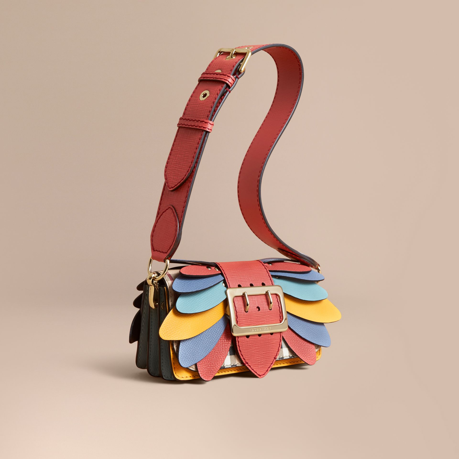 The Small Buckle Bag in Haymarket Check and Leather - Women | Burberry - gallery image 1