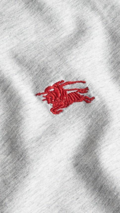 Camaïeu de gris pâles T-shirt en coton ultra-doux Camaïeu De Gris Pâles - Image 2