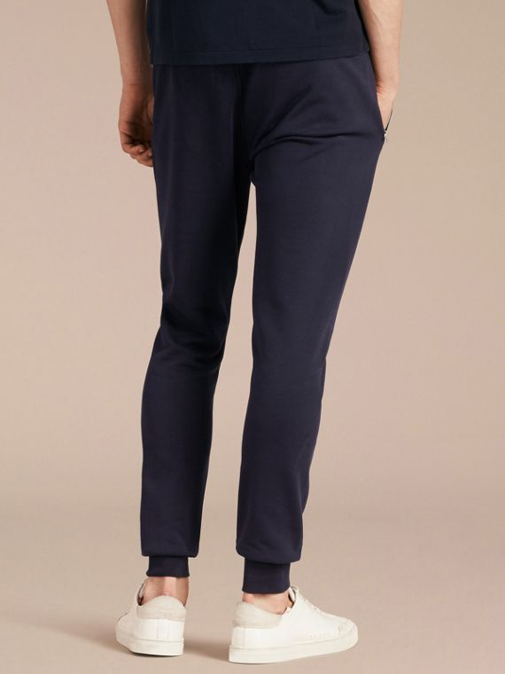 Navy Pantaloni tuta in cotone Navy - cell image 2