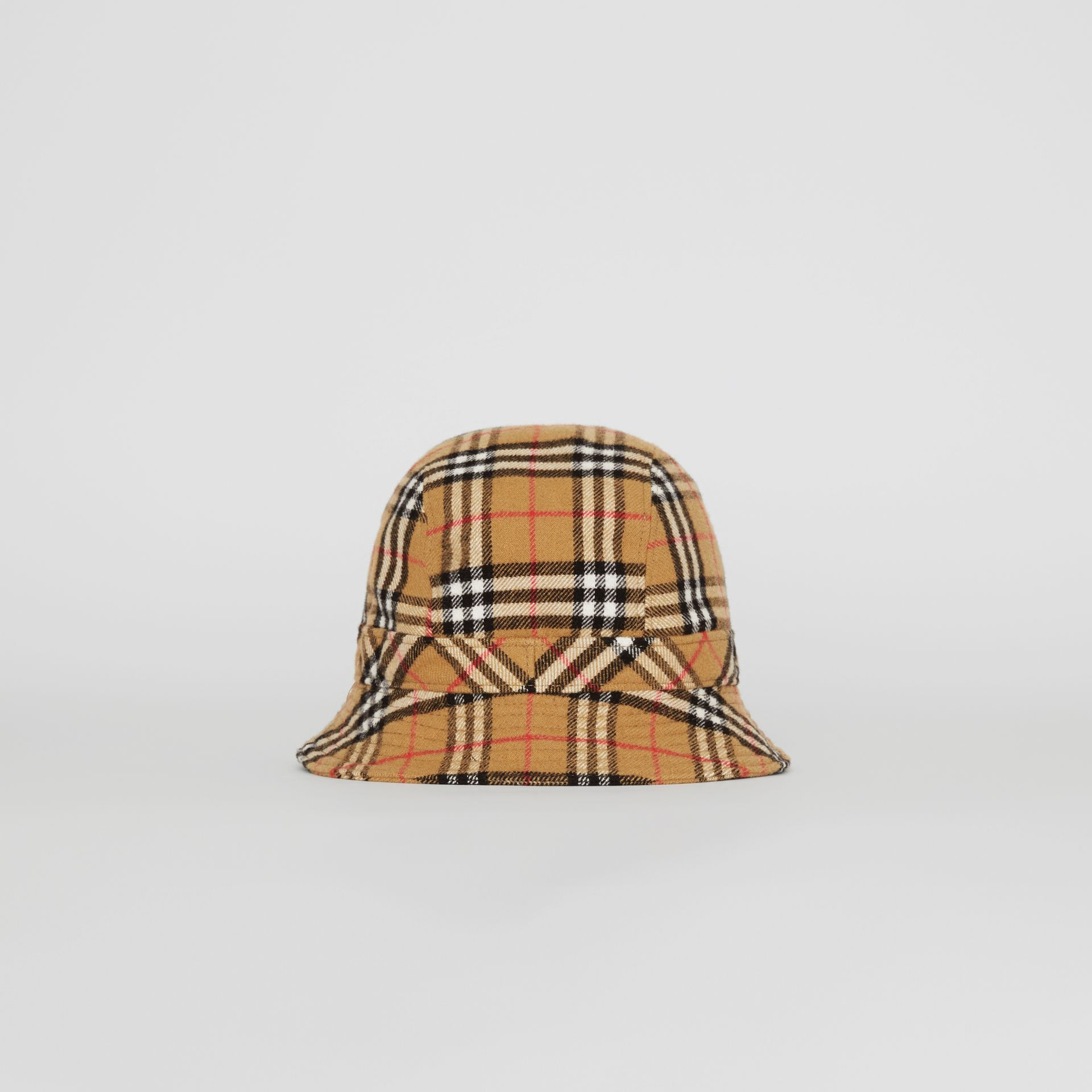Gosha x Burberry Check Flannel Bucket Hat in Antique Yellow | Burberry - gallery image 7