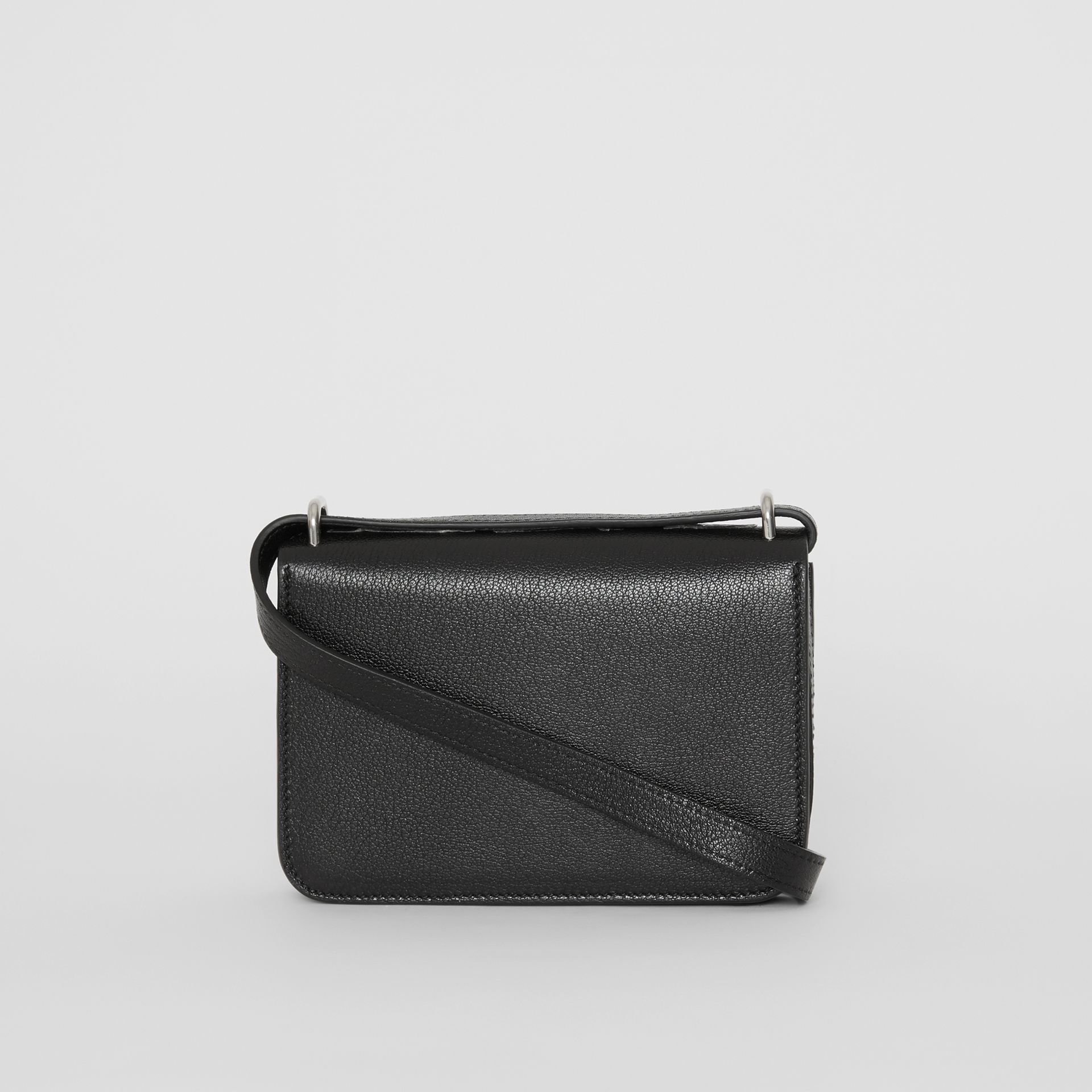 The Mini Leather D-ring Bag in Black - Women | Burberry Australia - gallery image 7