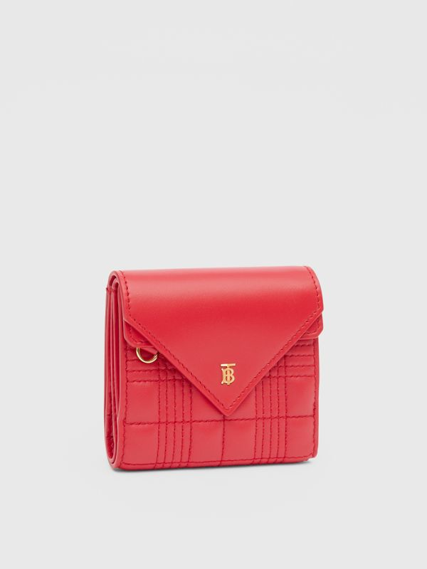Quilted Lambskin Folding Wallet in Bright Red - Women | Burberry Hong Kong S.A.R - cell image 3