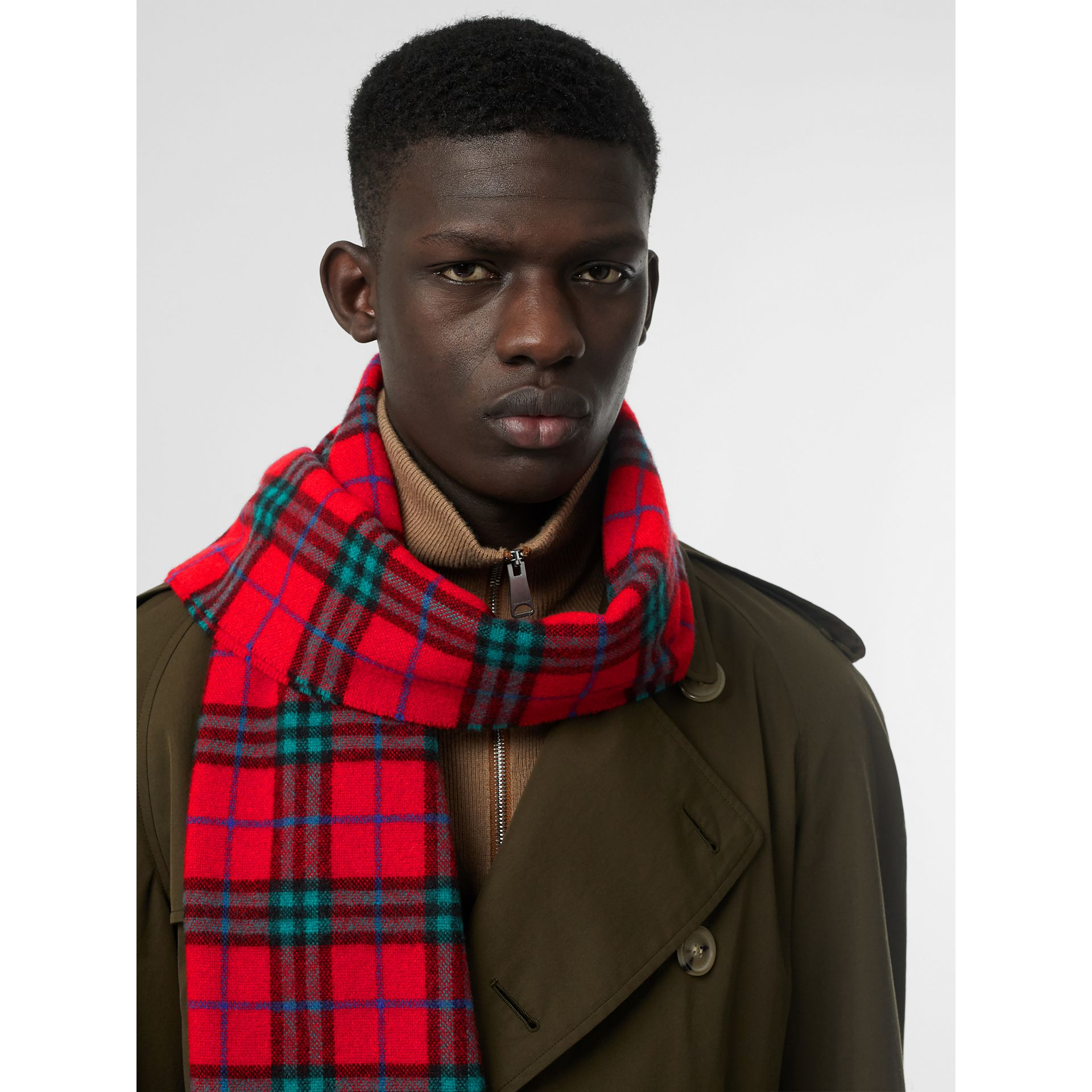 Check Cashmere Scarf | Burberry United Kingdom - gallery image 6