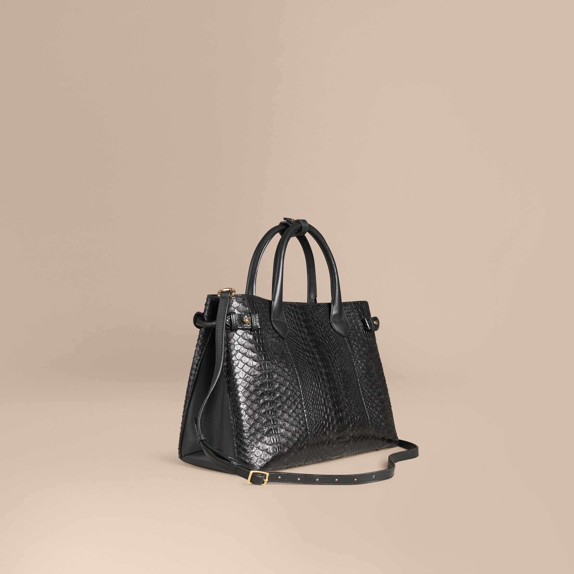 The Medium Banner in Python in Black - Women | Burberry - gallery image 1