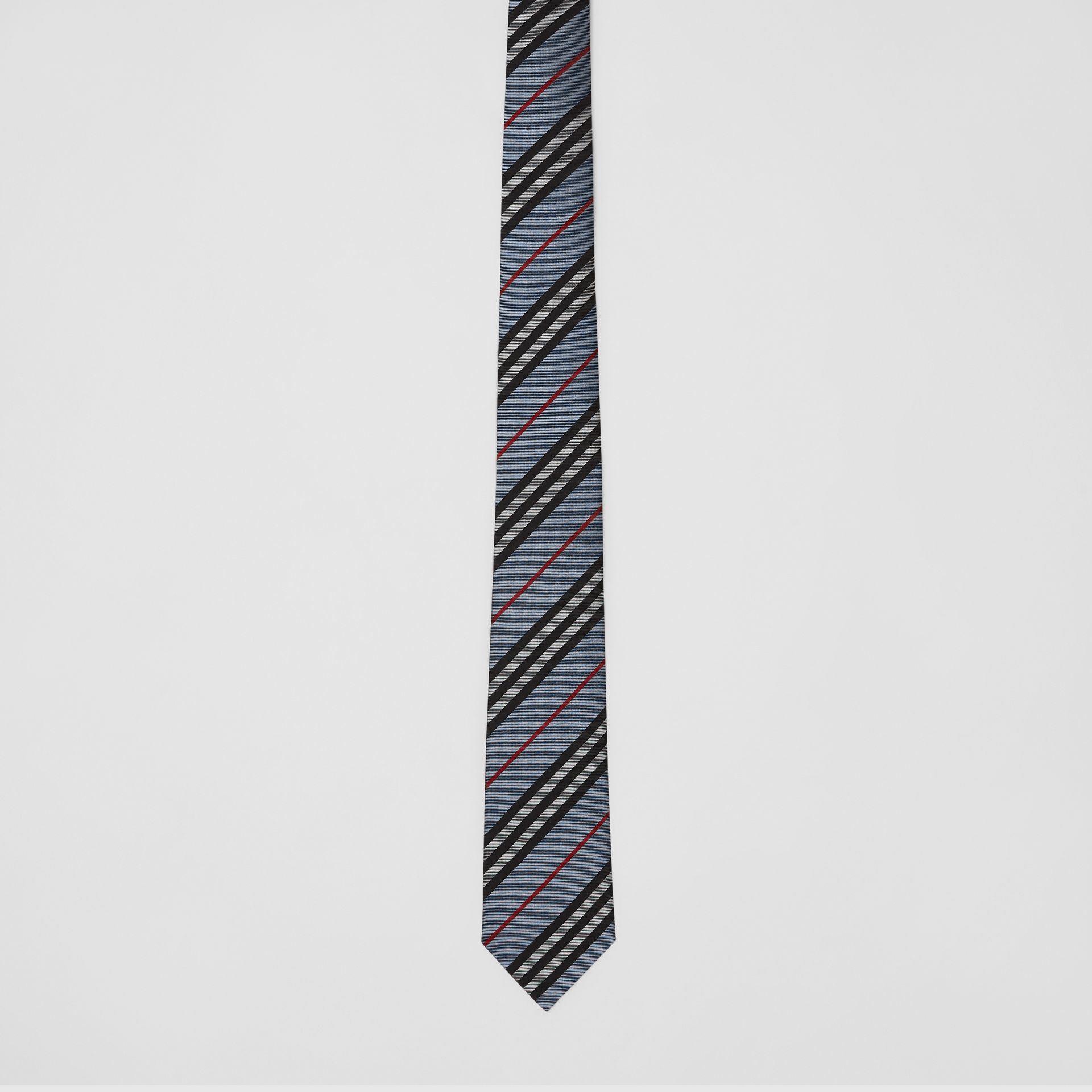 Classic Cut Icon Stripe Silk Tie in Pale Blue - Men | Burberry Canada - gallery image 3