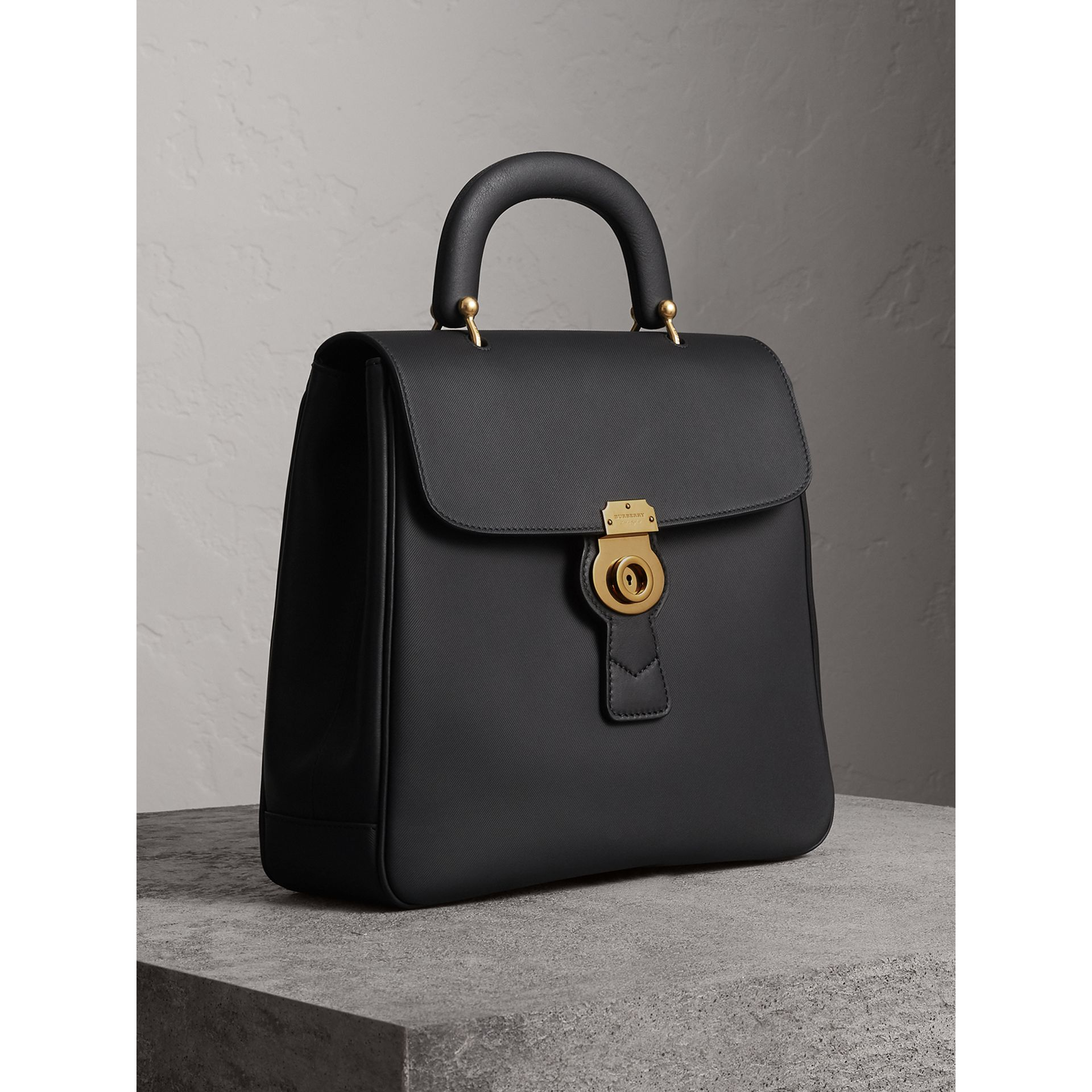 The Large DK88 Top Handle Bag in Black - Women | Burberry - gallery image 7