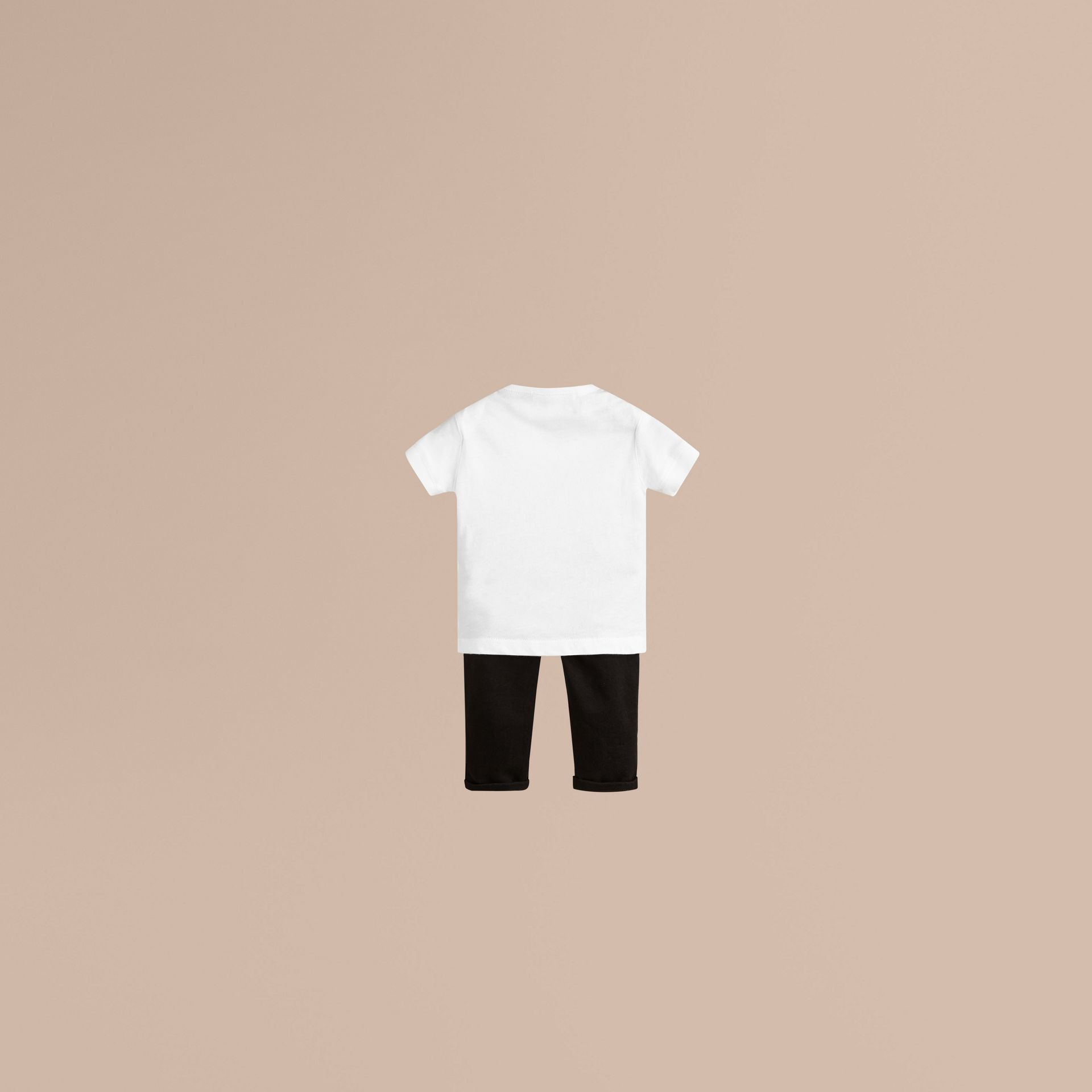 Check Pocket T-Shirt in White - gallery image 2