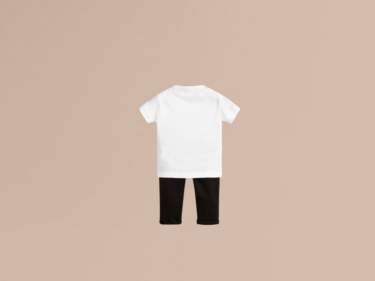 Check Pocket T-Shirt in White - Boy | Burberry - cell image 1