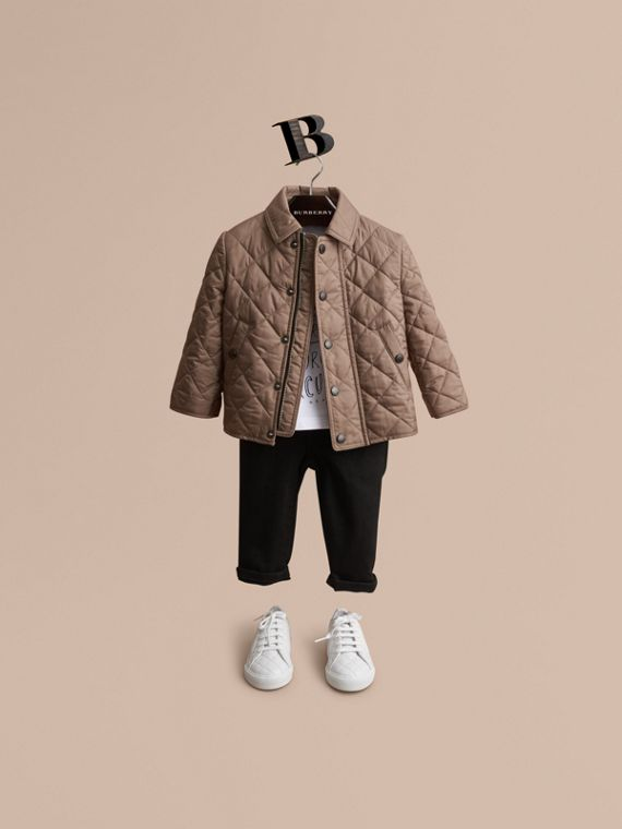 Lightweight Quilted Jacket in Dark Mushroom