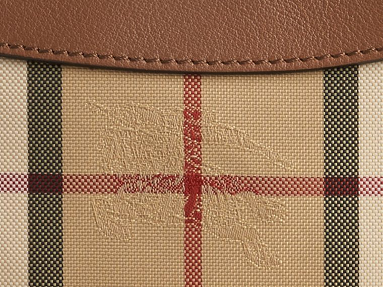 Tan Horseferry Check and Leather Pouch Tan - cell image 1